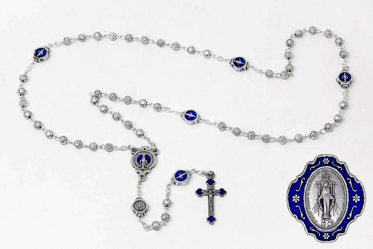 Direct From Lourdes Miraculous Metal Rosary With