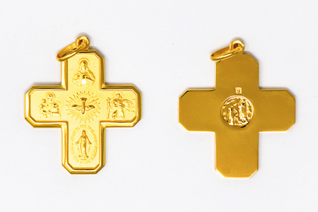 5 Way Miraculous Medal Cross.