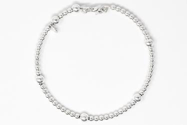 925 Sterling Silver Rosary Bracelet.