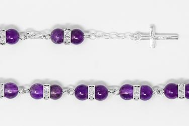 Amethyst Rosary Bracelet.