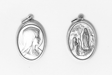 Oval 925 Virgin Mary Pendant.