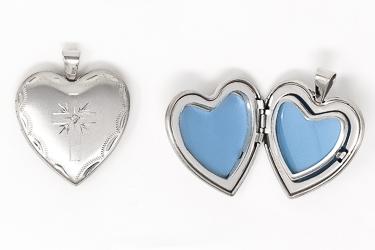 Family Locket Heart Pendant.