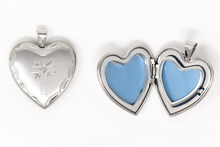 Family Locket Heart Pendant.