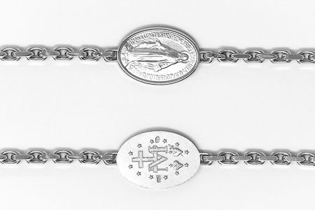 Sterling Silver Miraculous Bracelet.