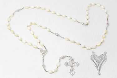925 Mother of Pearl Rosary Beads