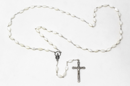 925 Mother of Pearl Rosary.