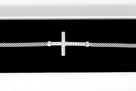 Crystal Cross Bracelet.