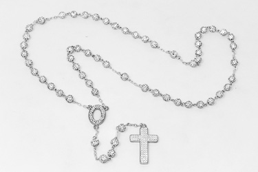 Sterling Silver Crystal Rosary.