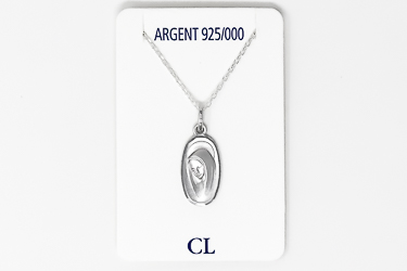 925 Sterling Silver Lourdes Necklace.