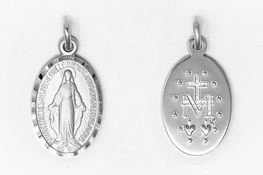 925 Sterling Silver Miraculous Medal.