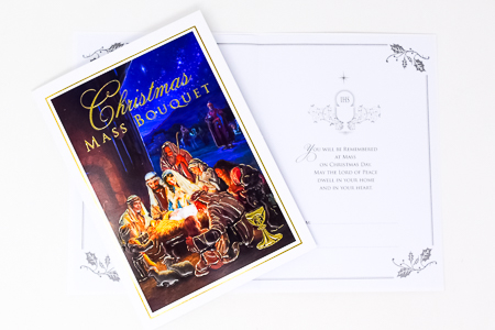 Christmas Mass Bouquet Card.