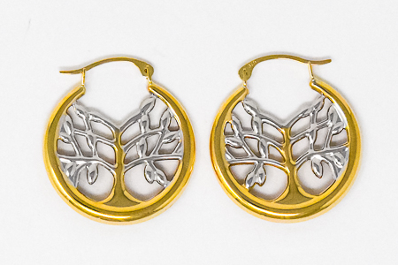 9ct Gold Tree of Life Earrings.