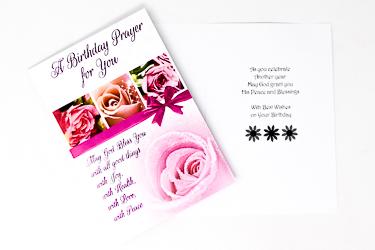 A Birthday Prayer For You Card.