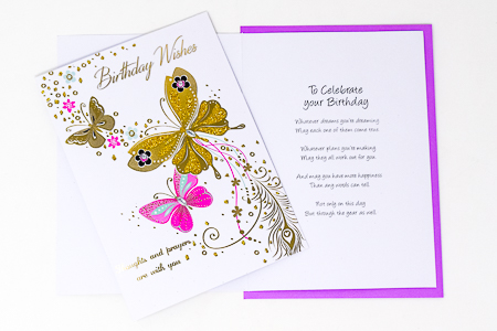 A Birthday Prayer For You Card.