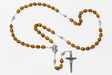 Acorn Olive Rosary Beads