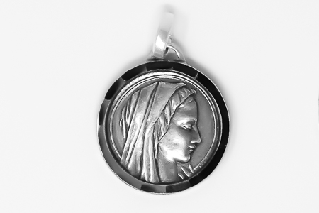 Silver Virgin Mary Medal.