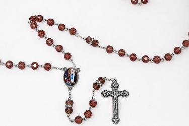 Lourdes Amethyst Rosary Beads.