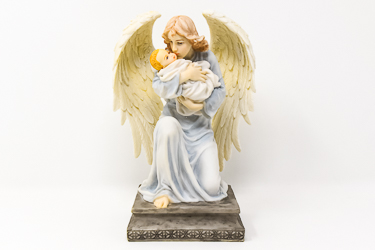 Angel and Child Statue.