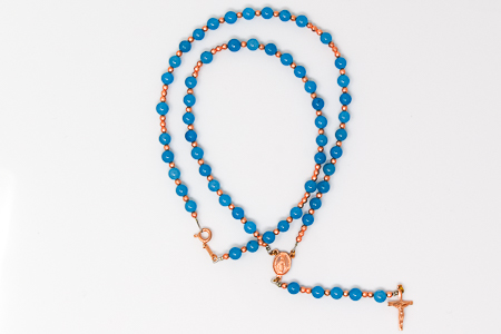 Miraculous Angelite Rosary Necklace.