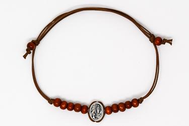 Lourdes Brown Rope Bracelet.