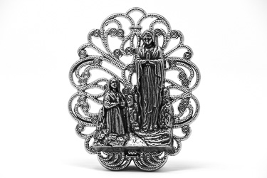Lourdes Metal Ornament.