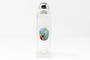 Lourdes Apparition Glass Holy Water Bottle.