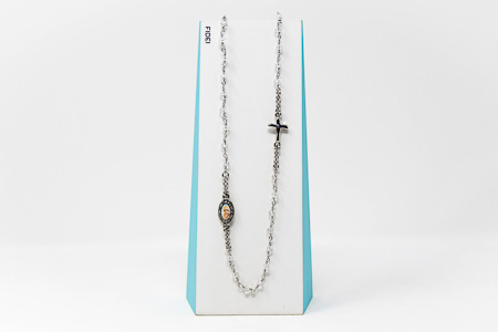 Fidei 3 Decade Crystal Rosary�Necklace.