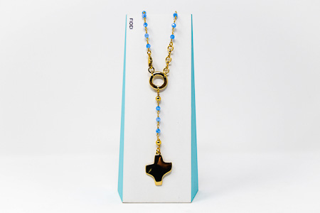 Fidei Blue Rosary�Necklace.