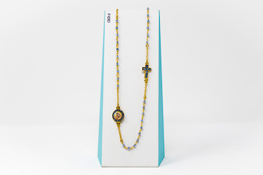 Fidei 3 Decade Blue Rosary�Necklace.