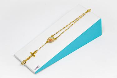 White Fidei Rosary Bracelet.