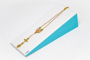Pink Fidei Rosary Bracelet.