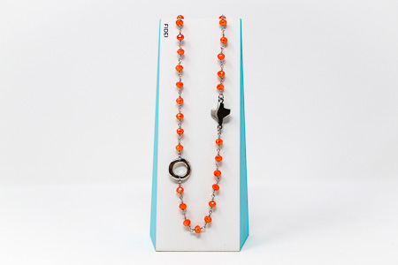 Fidei Coral Rosary�Necklace.