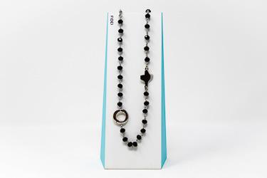 Fidei Black Rosary�Necklace.