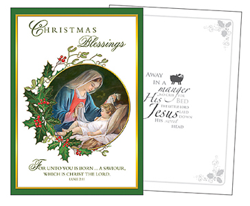 Away in a Manger Christmas Card.