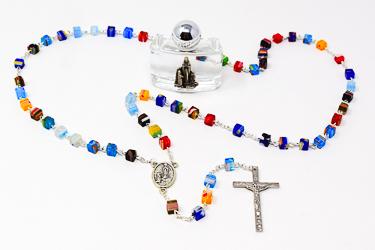 Azure Stone Lourdes Rosary.