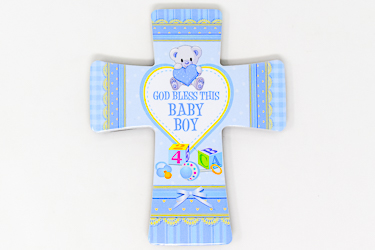 Baby Boy's Porcelain Cross.