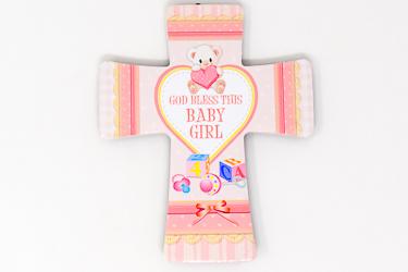 Baby Girl's Porcelain Cross.