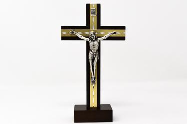 Beech Wood Standing Crucifix.