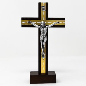 Beech Wood Standing Crucifix.