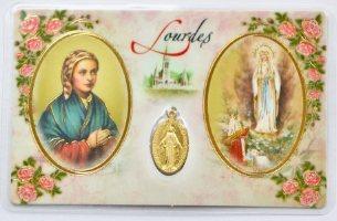 Apparition Prayer Card & Miraculous Medal.
