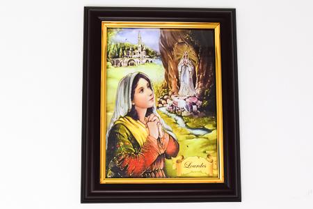Bernadette Apparition Framed Picture.