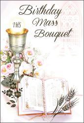 Birthday Mass Card.