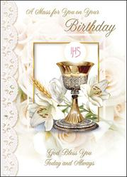 Birthday Mass Card.
