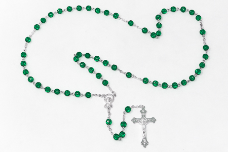 Birthstone Rosary Beads May - Emerald.