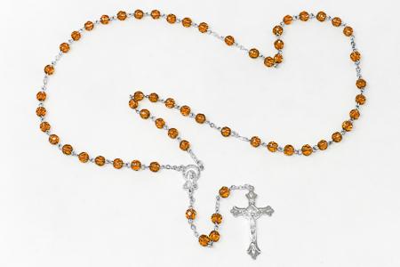 Birthstone Rosary Beads November - Topaz.