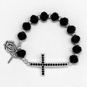 Black Rosary Bracelet.