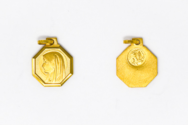 Blessed Virgin Mary Gold Medal.
