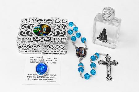 Swarovski Lourdes Rosary Gift Set.
