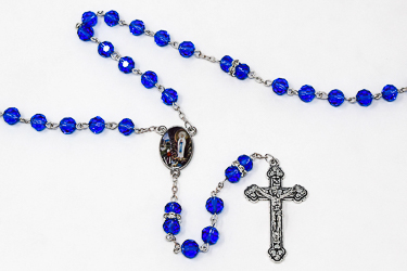 Lourdes Crystal Rosary Beads.