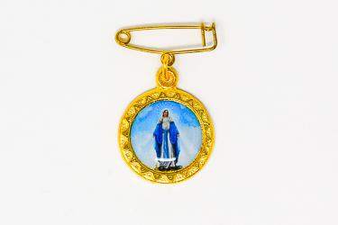 Miraculous Medal Lapel Pin.
